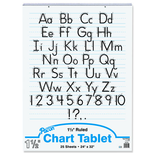 "Flip Chart Tablets (24x32) 1 1/2"" Rule - White Paper"
