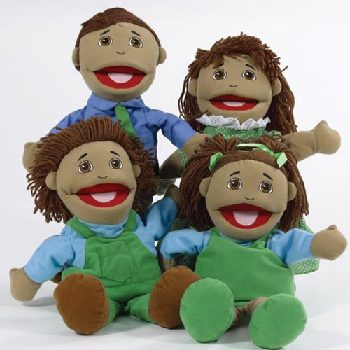 Hispanic Family Puppets - Set of 4