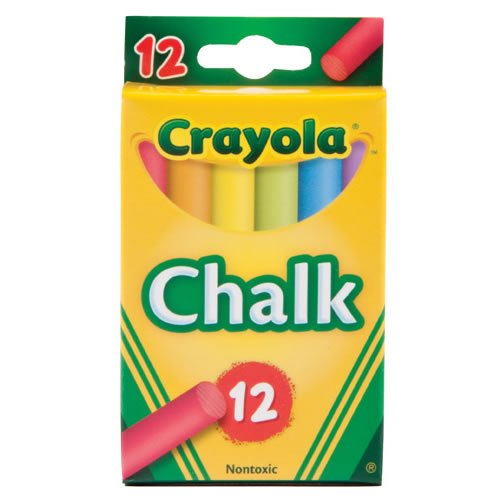 Crayola® 12-Pack Assorted Color Chalk (12 boxes)