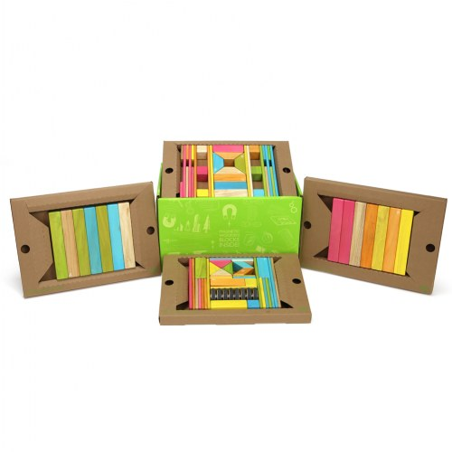 Tegu Magnetic Wooden Blocks Classroom Kit - Tints (90 Pieces)