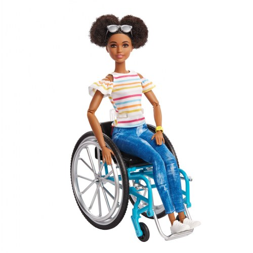 Barbie® Fashionistas Doll with Wheelchair - Brunette