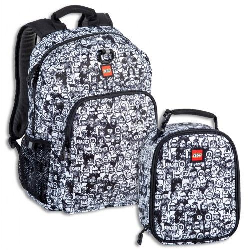LEGO® Minifigure Crowd Heritage Backpack & Lunch Bag Set