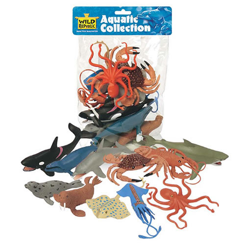 Wild Republic 11 Piece Aquatic Collection