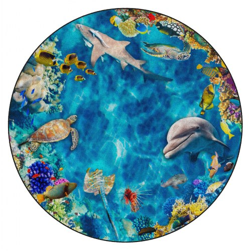 Photo-Fun Into The Sea Round Rug