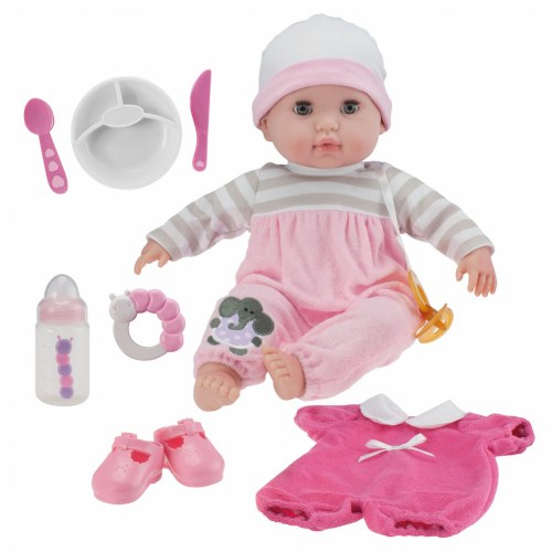 "Nonis 15"" Deluxe Baby Doll Set - Pink"