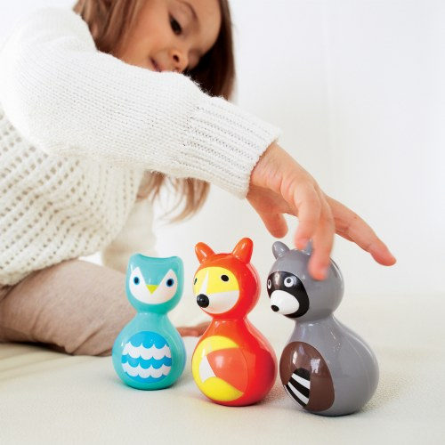 Alternate Image #4 of Woodland Animals Wobble Toys