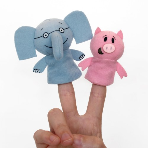 Alternate Image #2 of Mo Willems Elephant & Piggie Puppets & Book Set