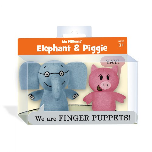 Alternate Image #4 of Mo Willems Elephant & Piggie Puppets & Book Set