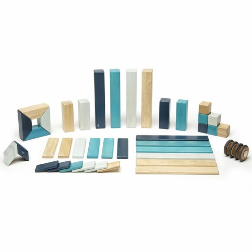 Tegu Blues Magnetic Wooden Blocks 42 Pieces