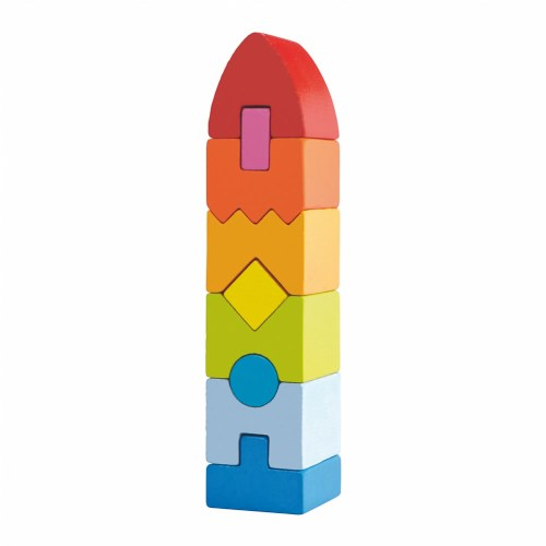 Rainbow Rocket STEM Building Block Set