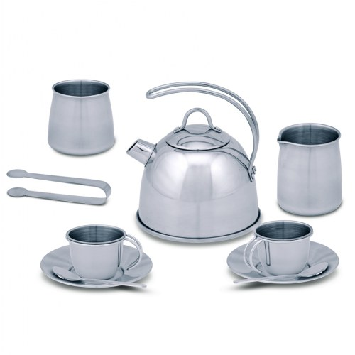 Pretend Play Stainless Steel Tea Set