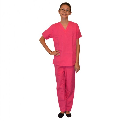 Pretend Play Doctor Scrubs Childs Size 5 - 6 Pink