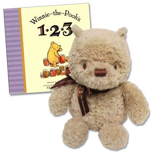 Winnie The Pooh S 123 Board Book Classic Plush Set