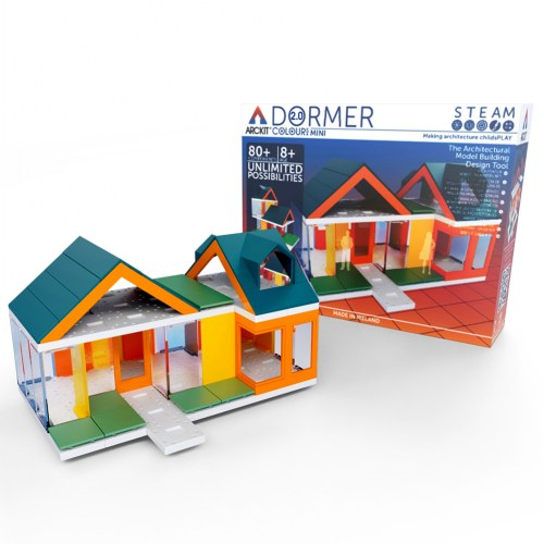 Arckit Architectural Model Building Kit: Mini Dormer Colors 2.0 - 80 Pieces