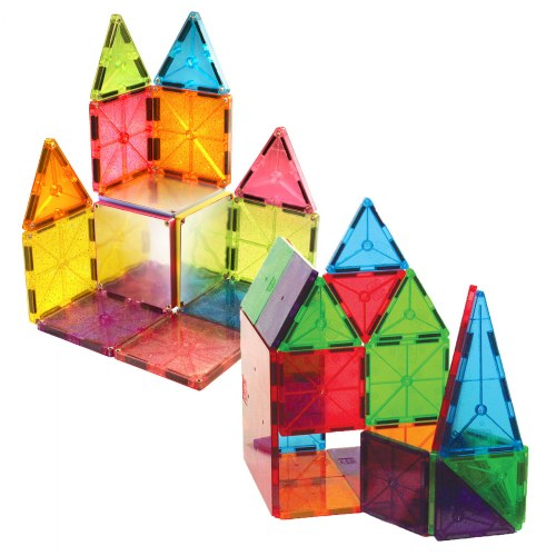 Magna-Tiles® 32 Piece Clear Colors & 15 Piece Stardust Set