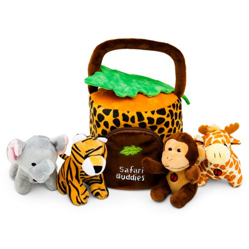 Plush Safari Jungle Friends Talking Animal Set