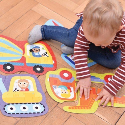 Alternate Image #2 of Hands at Play Construction Vehicles & Farm Animals Puzzles