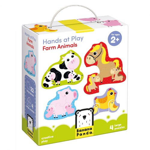 Alternate Image #3 of Hands at Play Construction Vehicles & Farm Animals Puzzles