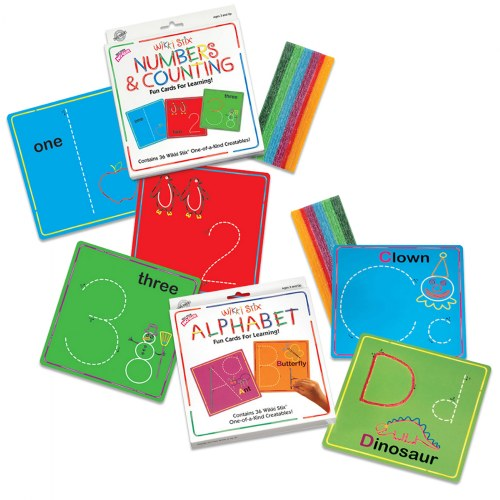 Wikki Stix® Alphabet With Upper & Lowercase and Numbers & Counting Cards