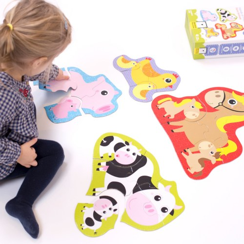 Alternate Image #6 of Hands at Play Construction Vehicles & Farm Animals Puzzles