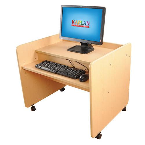 Classic maple laminate single computer desk for Kaplan floor planner