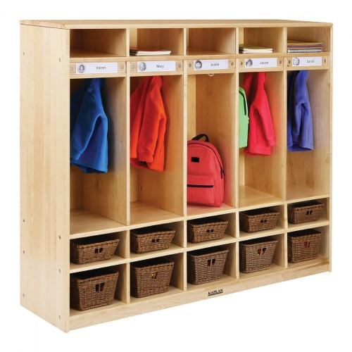 Alternate Image #2 of Premium Solid Maple Coat Lockers