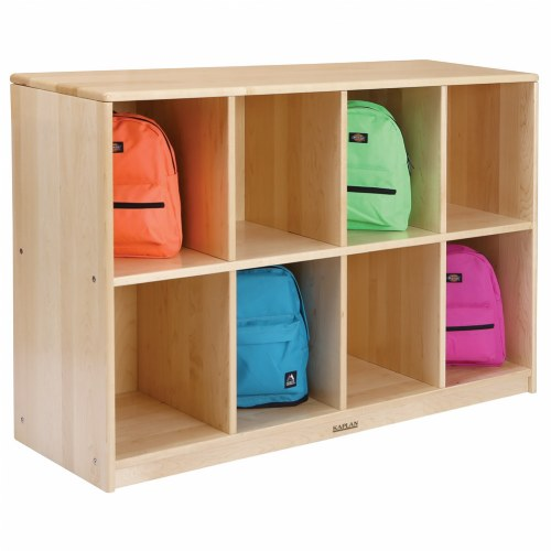 Premium Solid Maple 8-Section Storage Center