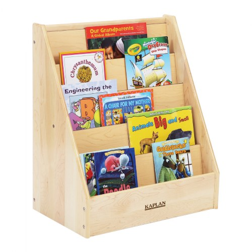 Alternate Image #1 of Premium Solid Maple 5-Shelf Book Display