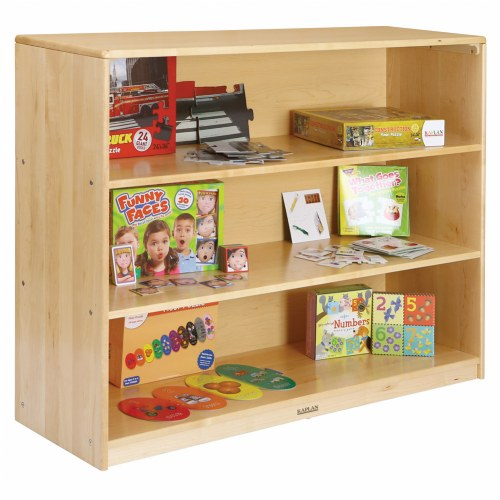 Premium Solid Maple 3-Shelf Storage