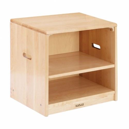 Premium solid maple toddler cupboard for Kaplan floor planner
