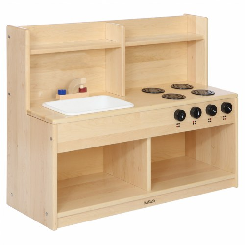 Premium Solid Maple Toddler Pretend and Play Kitchen