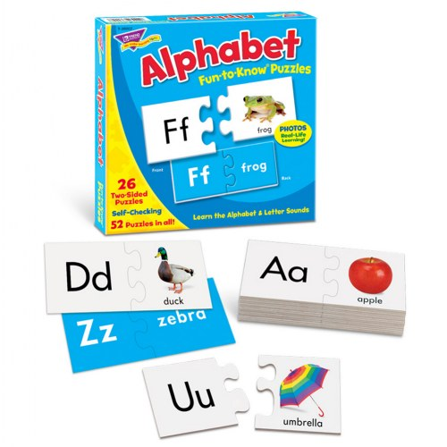 Alphabet Fun To Know Puzzles: Uppercase & Lowercase