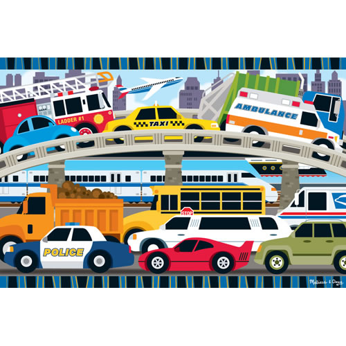 Transportation 24 Piece Floor Puzzle