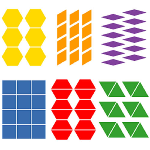 SureCut Die - Pattern Block Multiples Large Die Set (Set of 6)