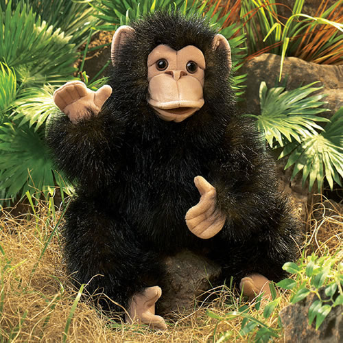 Alternate Image #3 of Baby Chimp Hand Puppet