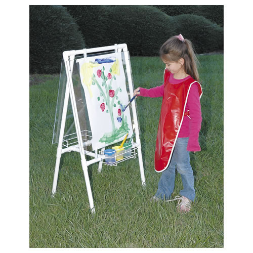 Alternate Image #1 of Acrylic Easel - Great for Use Indoor and Outdoor - Weather Resistant - Double-sided