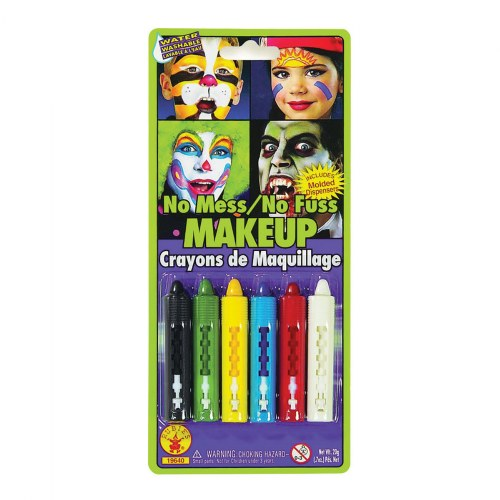 Face-Painting Crayons - 1 Set of 6 Pieces