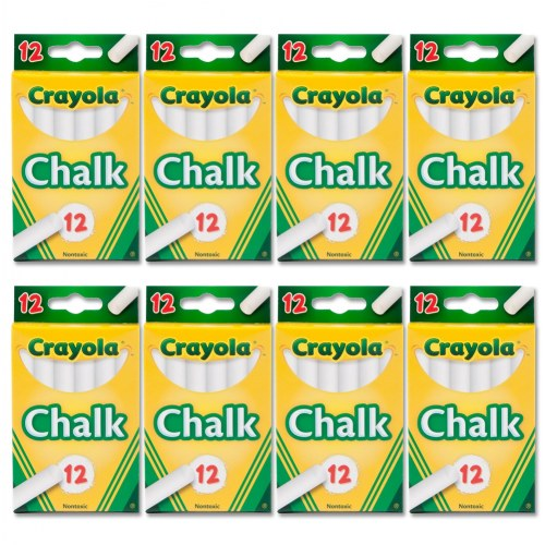 Crayola® White Chalk - 8 Boxes - 96 Sticks