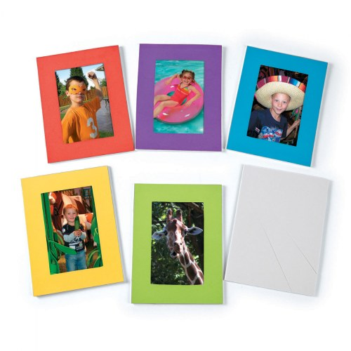 "Bright Picture Frames - 6 Colors - 4.75"" x 6.75"" - 24 Pieces"
