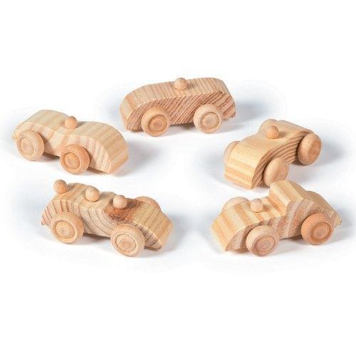 Unfinished Wood Cars - 12 Pieces