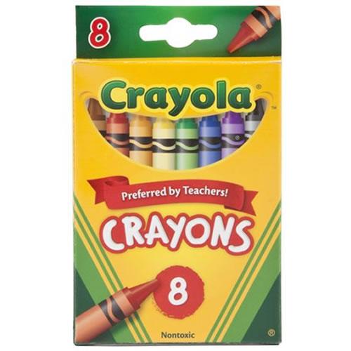 crayola 8 count crayons standard 12 boxes