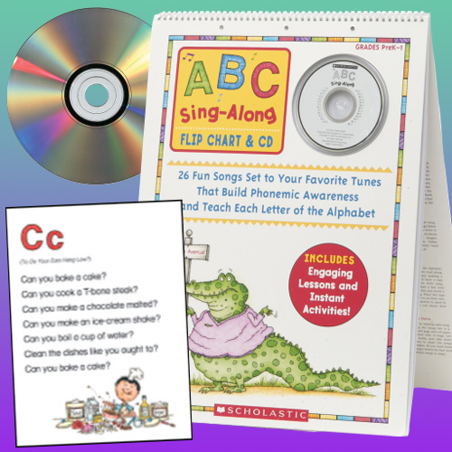 Abc Sing Along Flip Chart  Cd