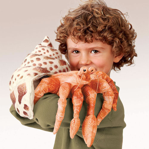 Alternate Image #3 of Hermit Crab Hand Puppet