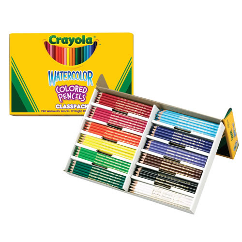 Crayola® Watercolor Colored Pencils Classpack (240 count, 12 colors)