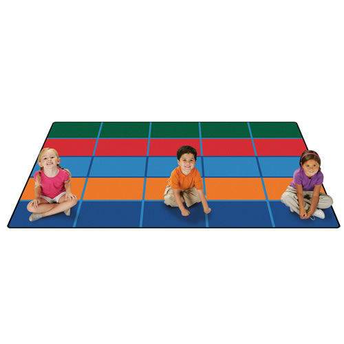 Color Blocks Seating KID$ Value PLUS Rug 6' x 9'