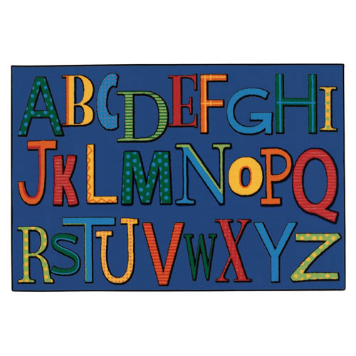 Playful Alphabet KID$ Value Rugs