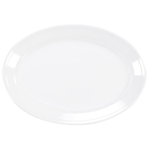 Alternate Image #2 of White Oval Serving Platter