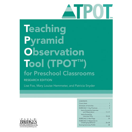 TPOT for Preschool Classrooms, Research Edition