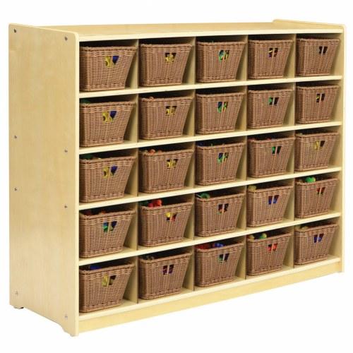 carolina 25 bin storage rh kaplanco com Target Shelves with Storage Baskets Wood Storage Bins