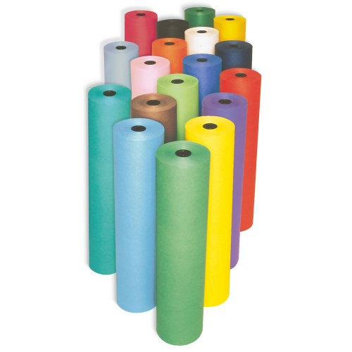 "Rainbow Colored Kraft Paper Roll - 36"" x 1000'"